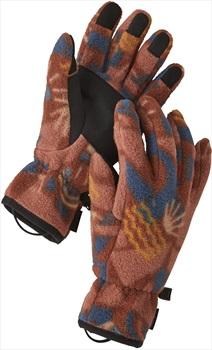 Patagonia Synchilla® Fleece Gloves, L Canyon Block Big: Sisu Brown