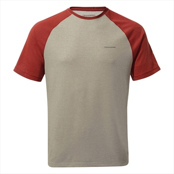 Craghoppers NosiLife Anello II Short Sleeve T-shirt, M Red & Grey