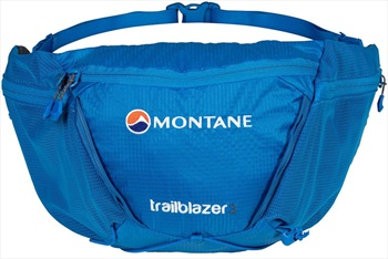Montane Trailblazer 3 Waist Pack 3L Bum Bag, 3L Electric Blue