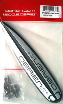 O'Brien Spine Fin G10 Wakeboard Fin Kit 2 Pack, 0.7 Black White
