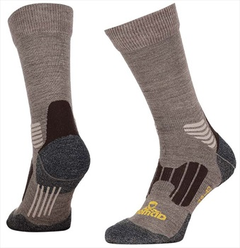 NOMAD® Adult Unisex Merino Wool Crew Hiking Socks, UK 2-5 Beige