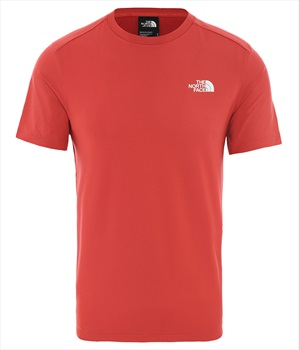 The North Face Lightning Short Sleeve T-Shirt, XL Sunbaked Red