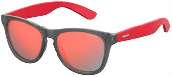 Polaroid Falcon Red Polarized Sunglasses, Grey/Red