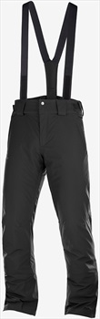 Salomon Stormseason Regular Insulated Ski/Snowboard Pants, M Black