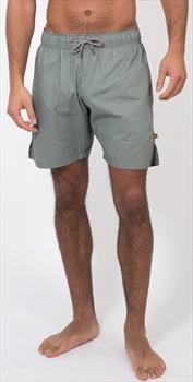 Carrot Banana Peach Organic Cotton Poplin Running Shorts, XL Moss