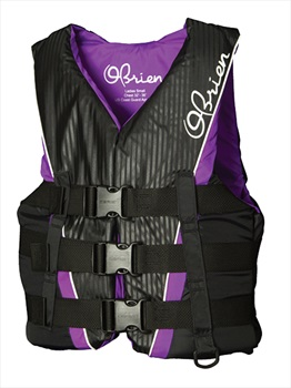 O'Brien 3 Buckle PRO Ladies Delux Ski Vest, Small Black Purple