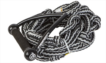 """O'Brien Relax Surf Wakesurf Rope and Handle, 9"""" Handle 24' Rope Silver"""