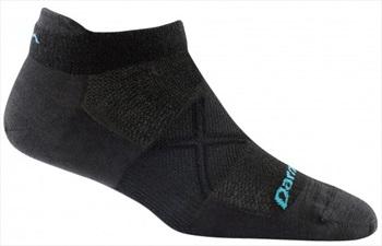 Darn Tough Vertex No-Show Tab Women's Running Socks, L Black