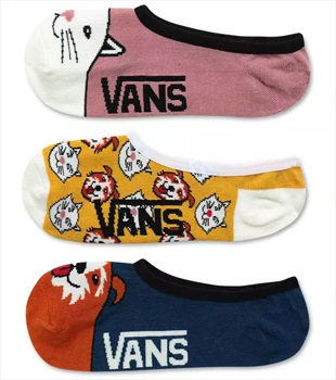Vans Best Bud II Canoodles 3-Pack Women's Socks, UK 6.5-10 Multi