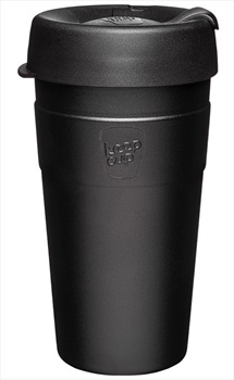 KeepCup Thermal Insulated Reusable Tea/Coffee Cup, 454ml/16oz Black