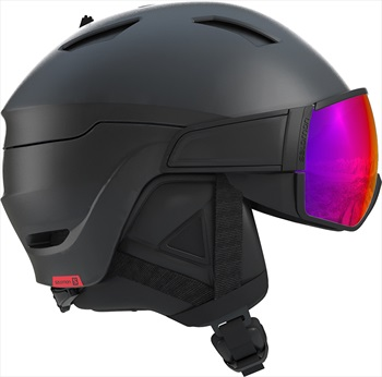 Salomon Driver Solar Red Ski/Snowboard Visor Helmet, L Black/Red