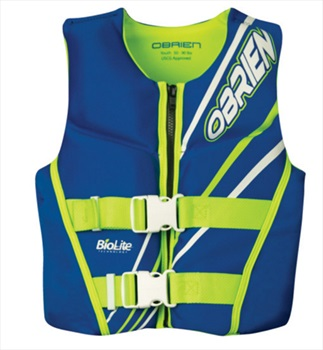 O'Brien Youth | Teen Biolite Watersports Life Jacket, Youth Blue
