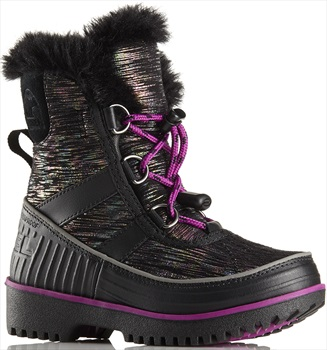 Sorel Youth Tivoli II Kid's Winter Boots UK Child 7 Black/Bright Plum