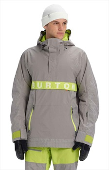 Burton Frostner Anorak Pull Over Ski/Snowboard Jacket, M Sterling