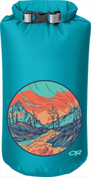 Outdoor Research Graphic Dry Sack Equipment Dry Bag, 10L Alpenglow
