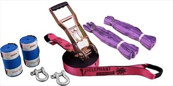 Elephant Slacklines Freak Flash'line Slackline Full Set, 15m Pink