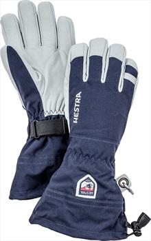 Hestra Army Leather Heli Ski Ski Snowboard Gloves, Small Navy