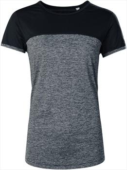 Berghaus Voyager Tech Women's Short Sleeve T-Shirt, UK 8 Carbon/Black