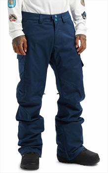 Burton Cargo Tall Fit Snowboard/Ski Pants, M Dress Blue