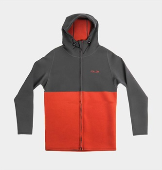 Follow Neo Zip Layer 3.12 Jacket, X Large Charcoal Rust 2019