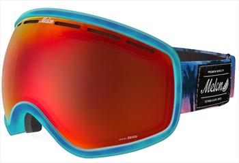 Melon Chief Red Chrome Sonar Snowboard/Ski Goggle, M/L Bubblegum Blue