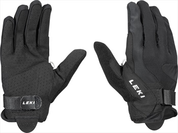 Leki Summer Shark Long Nordic Walking Pole Gloves, XL Black