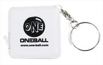 One Ball Jay Key Chain Tape Measure One Size White