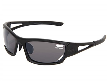 Tifosi Dolomite 2.0 Smoke/AC Red/Clear Sunglasses, Matte Black