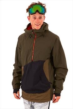 thirtytwo TM Anorak Ski/Snowboard Pullover Jacket, M Army