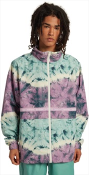 Burton Melter Waterproof Windbreaker Jacket, M Ether Blue Tidal Dye