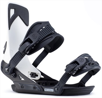 Ride Adult Unisex Revolt Snowboard Bindings, M Off White 2020