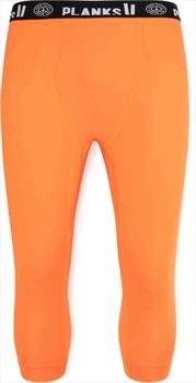 Planks Fall-Line Base Layer 3/4 Leg Thermal Bottoms, M Lifeboat Orange