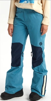 Burton Retro 2 Layer Women's Snowboard/Ski Pants, S Storm Blue