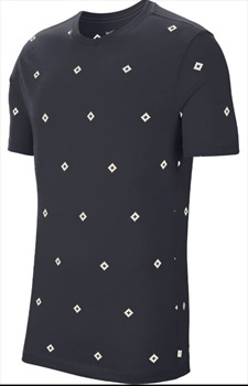Nike SB Icon Diamond AOP Short Sleeved T-Shirt, S Obsidian/Sail