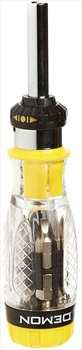 Demon Combo Driver Snowboard Binding Tool, Yellow/Clear