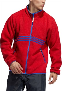 Adidas Sherpa Full Zip Fleece, L Power Red