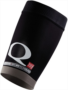 Compressport Quad Compression Sleeve, Size 4/Extra Large Black