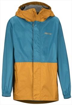Marmot PreCip Eco Boy's Waterproof Jacket, M Late Night/Aztec Gold