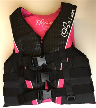 O'Brien 3 Buckle PRO Ladies Delux Ski Vest, XS Pink