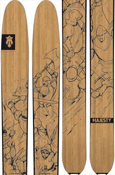 Majesty Adult Unisex Destroyer Ski Only Skis, 182cm Wood 2019