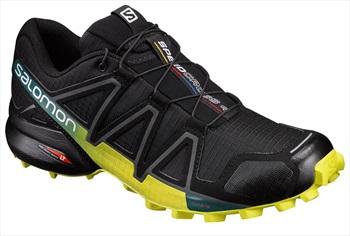 Salomon Speedcross 4 Men's Trail Running Shoe, UK 8 Black/Yellow