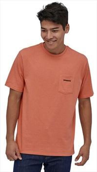 Patagonia P-6 Logo Pocket Responsibili-tee T-Shirt, L Mellow Melon