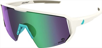 Melon Adult Unisex Alleycat Violet Chrome Performace Sunglasses, M/L White/Turquoise
