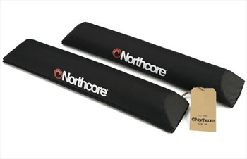 Northcore Aerodynamic Roof Bar Pads, One Size Black