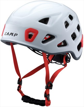 CAMP Storm Rock Climbing Helmet, 54-62cm, White/Red