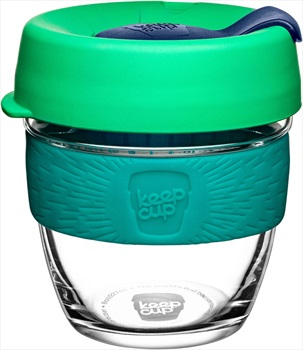 KeepCup Brew Glass Reusable Travel Coffee Cup, 227ml/8oz Floret