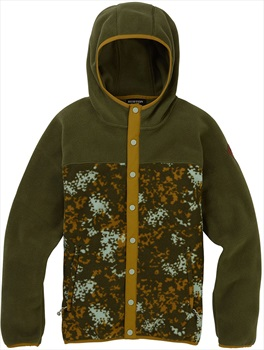 Burton Hearth Snap-Up Women's Fleece Hoodie, S Keef/Wheeler Camo