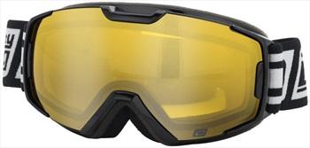 Dirty Dog Velocity Junior Yellow Ski/Snowboard Goggles, S Black
