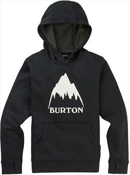 Burton Boy's Oak Pullover Ski/Snowboard Hoodie, M True Black Heather