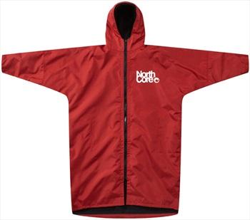 Northcore Beach Basha Pro Dressing/Changing Robe Jacket, L/XL Red